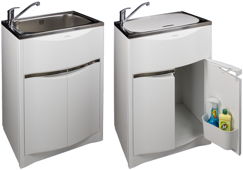 Contour tub and cabinet