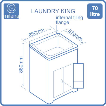 Laundry King diagram of dimensions