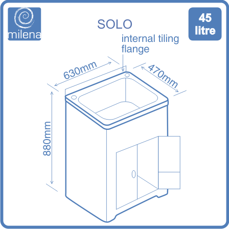 Solo diagram of dimensions