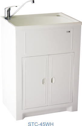 Solo cabinet with white polymer tub